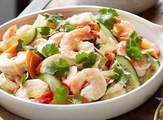 Салат с креветками и огурцами рецепты приготовления