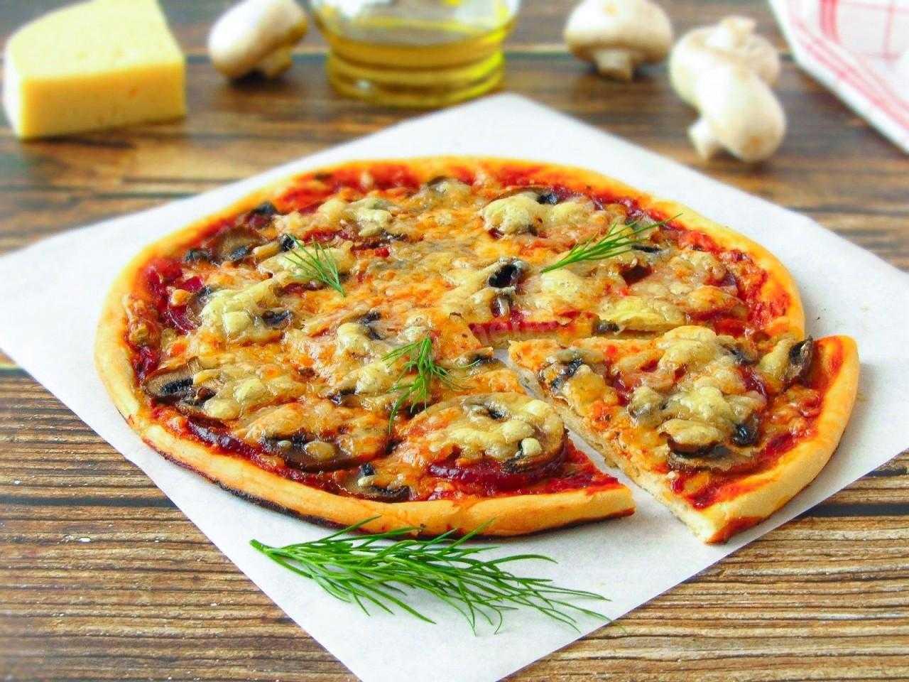 Пицца с грибами рецепт с фото пошагово: простые и вкусные варианты приготовления блюда