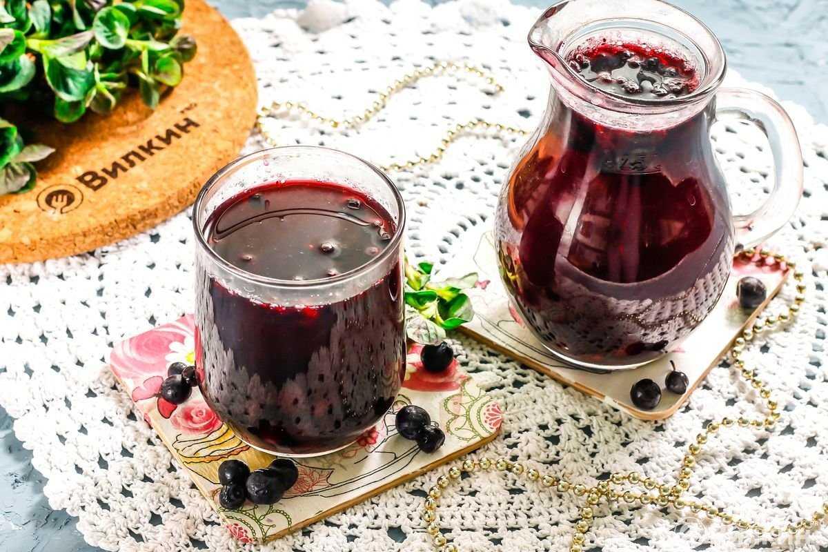 Простой рецепт приготовления компота из голубики на зиму - всё про сады