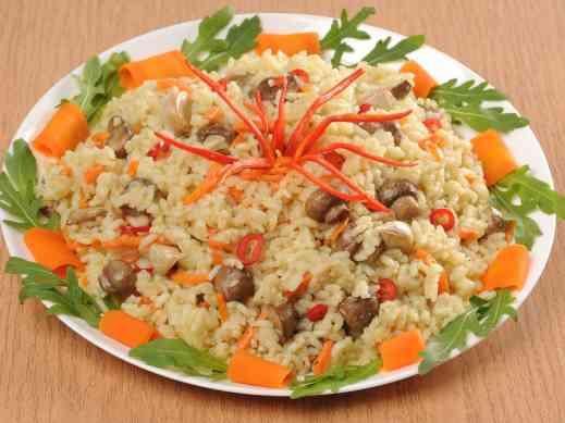 Плов без мяса - рецепт приготовления (в мультиварке, с овощами, с грибами)