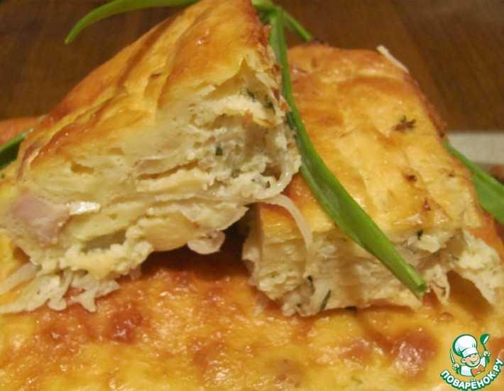 Пирог курино грибной слоеный рецепт с фото пошагово - 1000.menu