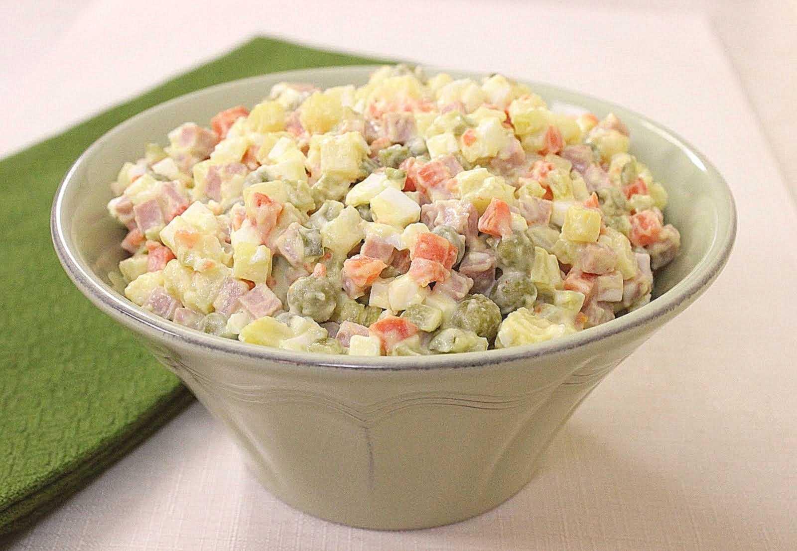 Салат зимний рецепт классический с колбасой пошаговые фото фоторецепт.ru