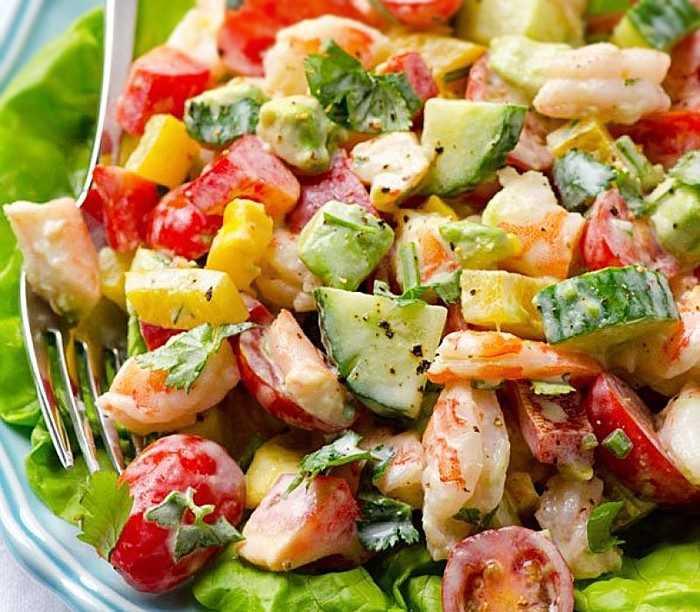 Салат креветки авокадо - 11 рецептов приготовления пошагово - 1000.menu