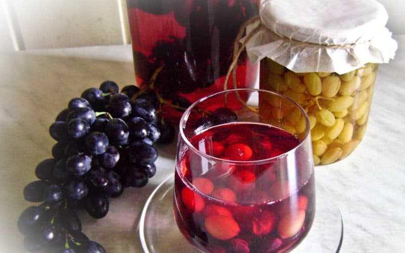 Компот из винограда: рецепты на зиму без стерилизации, классический, с другими ягодами и фруктами