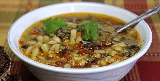 Суп из подосиновиков: рецепты из свежих, замороженных и сушеных грибов