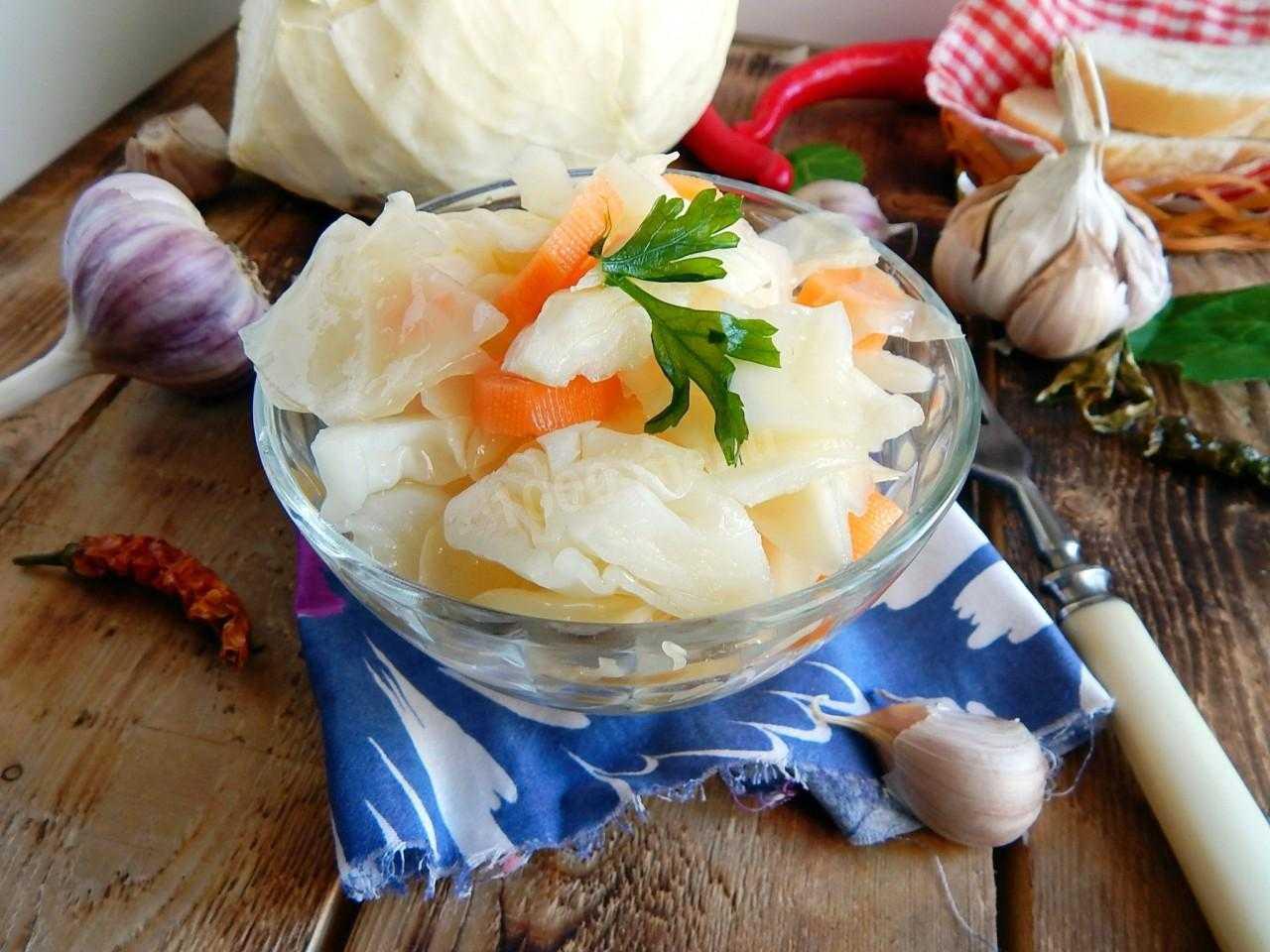 Маринованная капуста быстрого приготовления с уксусом