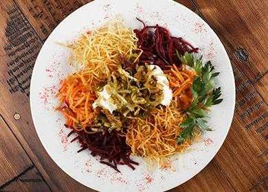 Салат чафан классический с говядиной