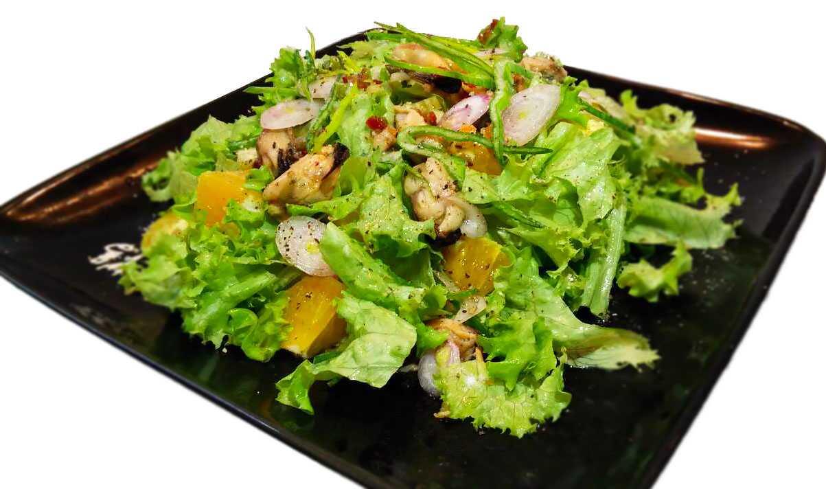 Салат с мидиями и овощами пошаговый рецепт