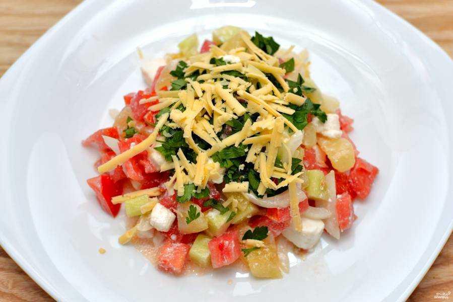 12 вариантов приготовления салата с брынзой