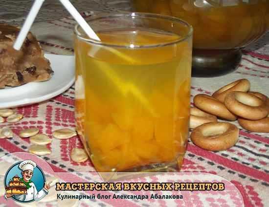 Пошаговый рецепт приготовления компота из тыквы с фото