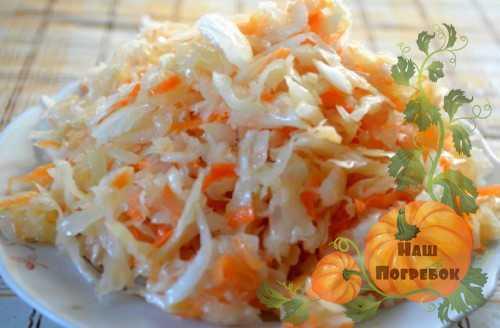 Рецепт капуста маринованная кусочками быстрого приготовления рецепт
