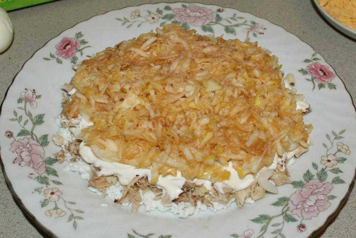 Салат с куриными бедрышками, ананасом и грецкими орехами рецепт с фото пошагово и видео - 1000.menu