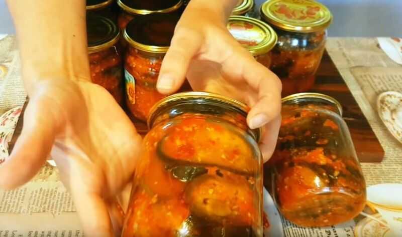 Баклажаны с помидорами и чесноком на зиму - заготовка. рецепты салатов из баклажанов на зиму с фото