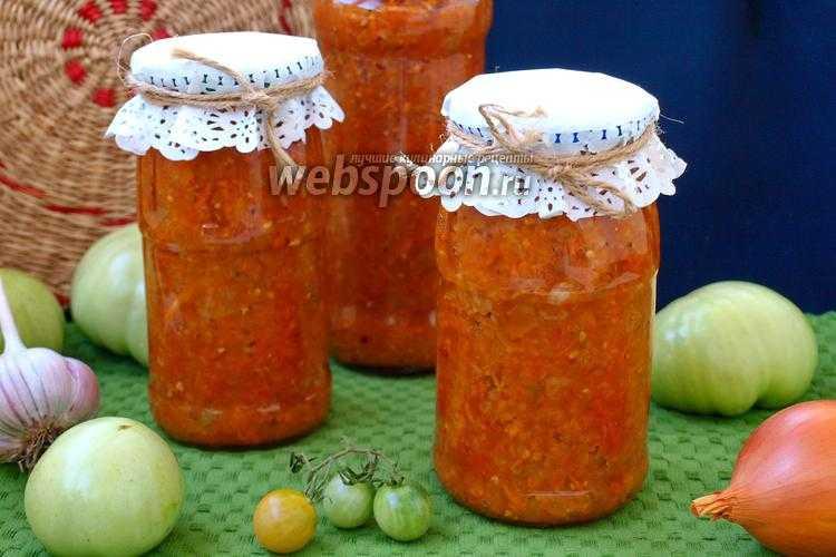 Рецепт икры из зелёных помидоров на зиму - 9 пошаговых фото в рецепте