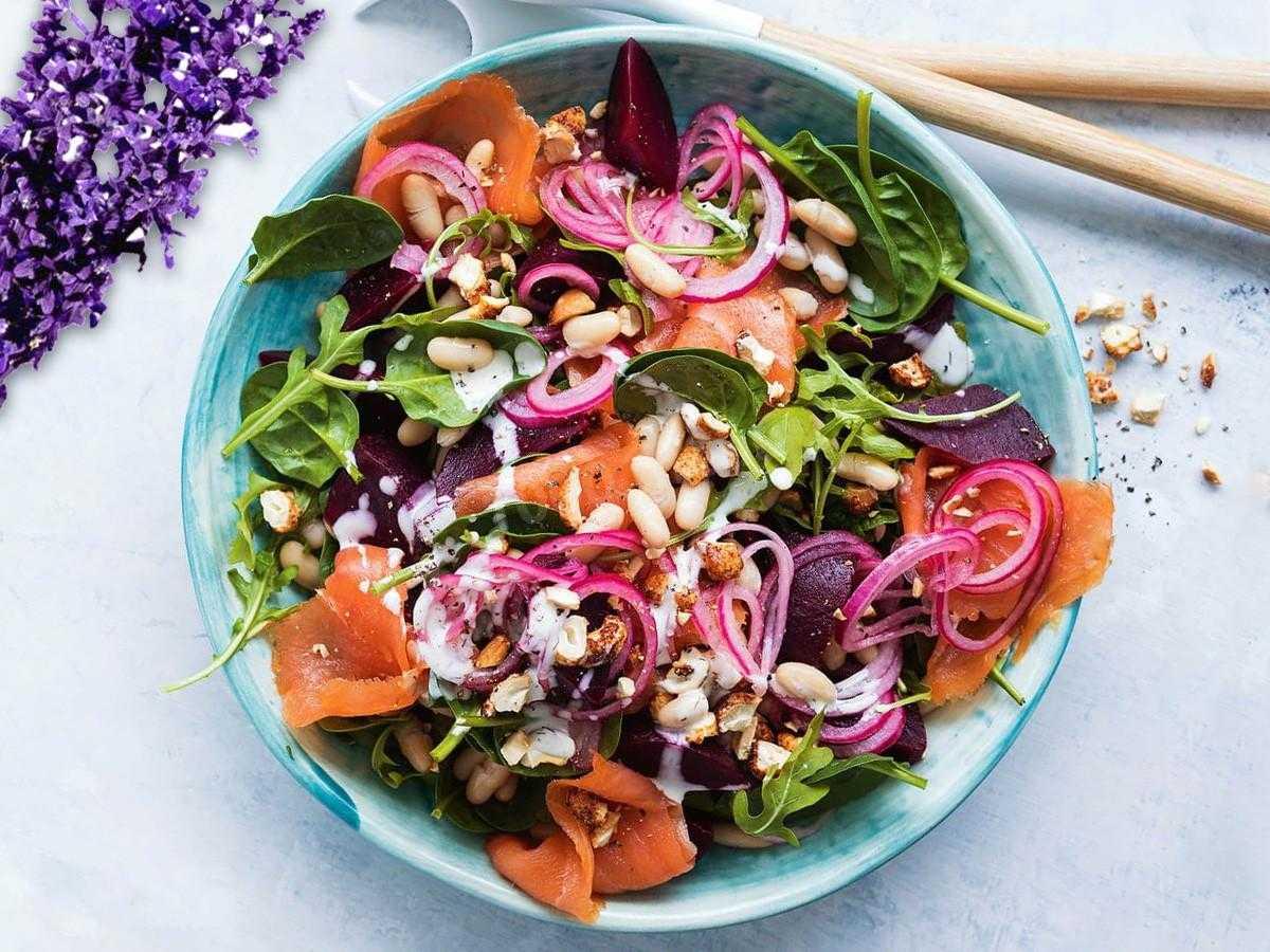 Салат к жареной рыбе: рецепты приготовления с фото, советы по сочетанию продуктов