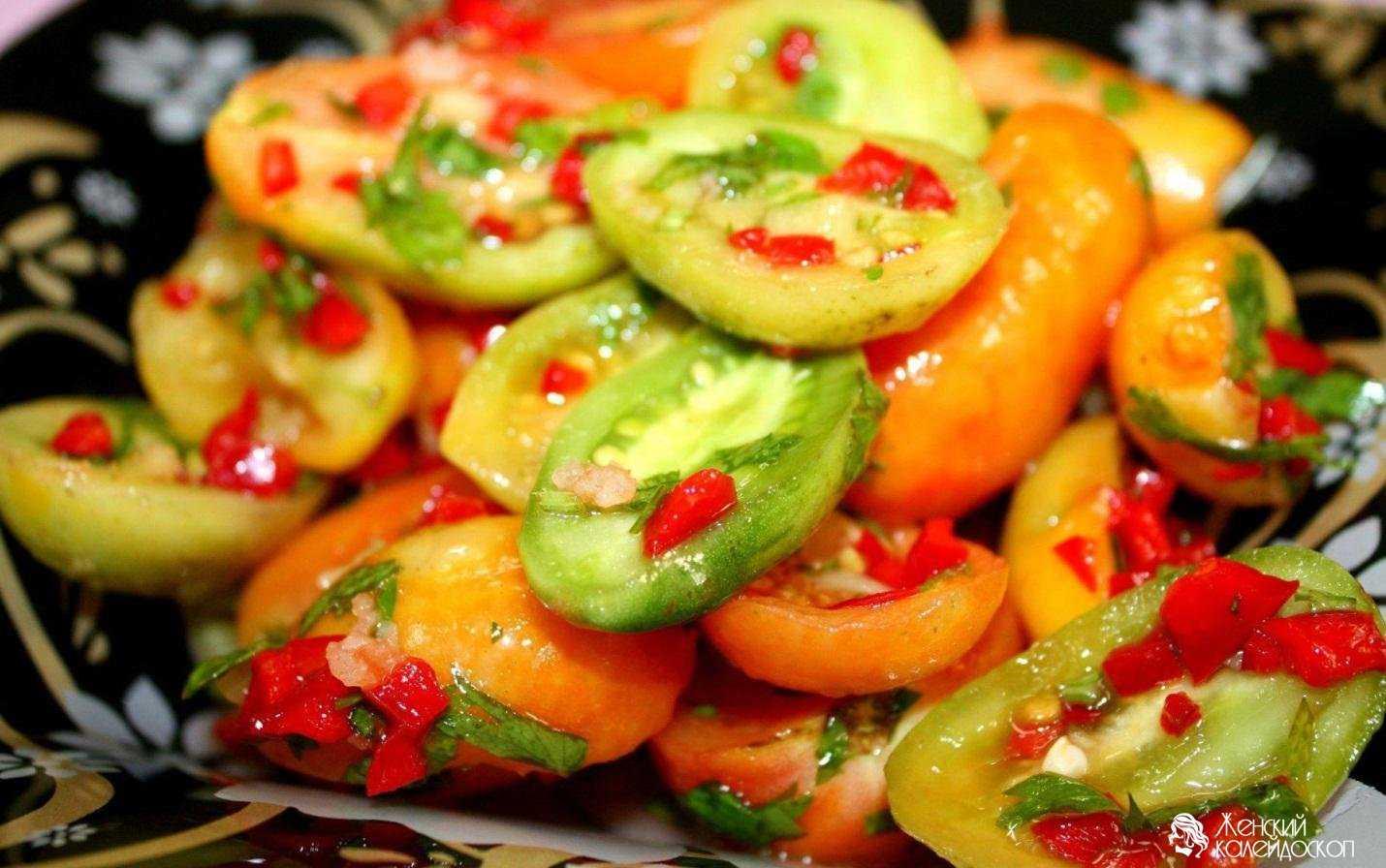 """Зеленые помидоры на зиму - самые вкусные рецепты """"пальчики оближешь"""""""