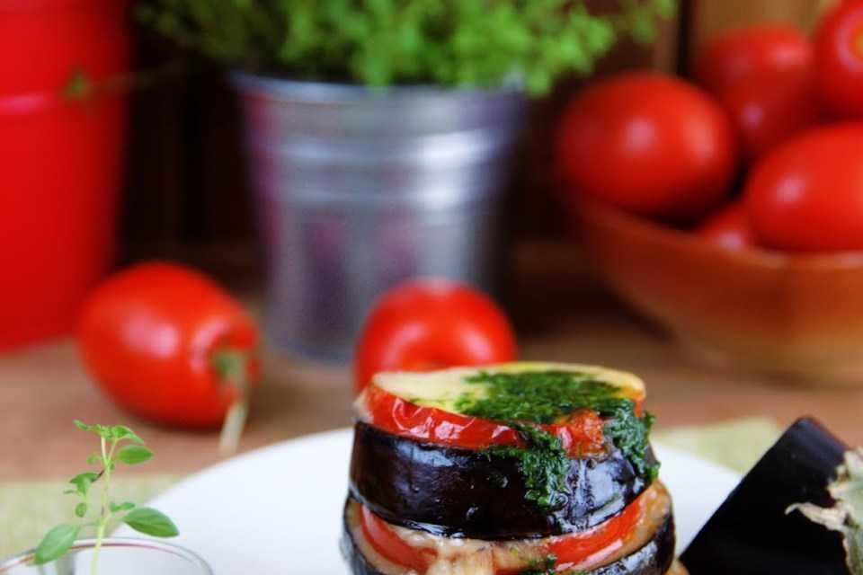 Салат из баклажанов и помидоров с моцареллой быстро и просто рецепт с фото пошагово - 1000.menu