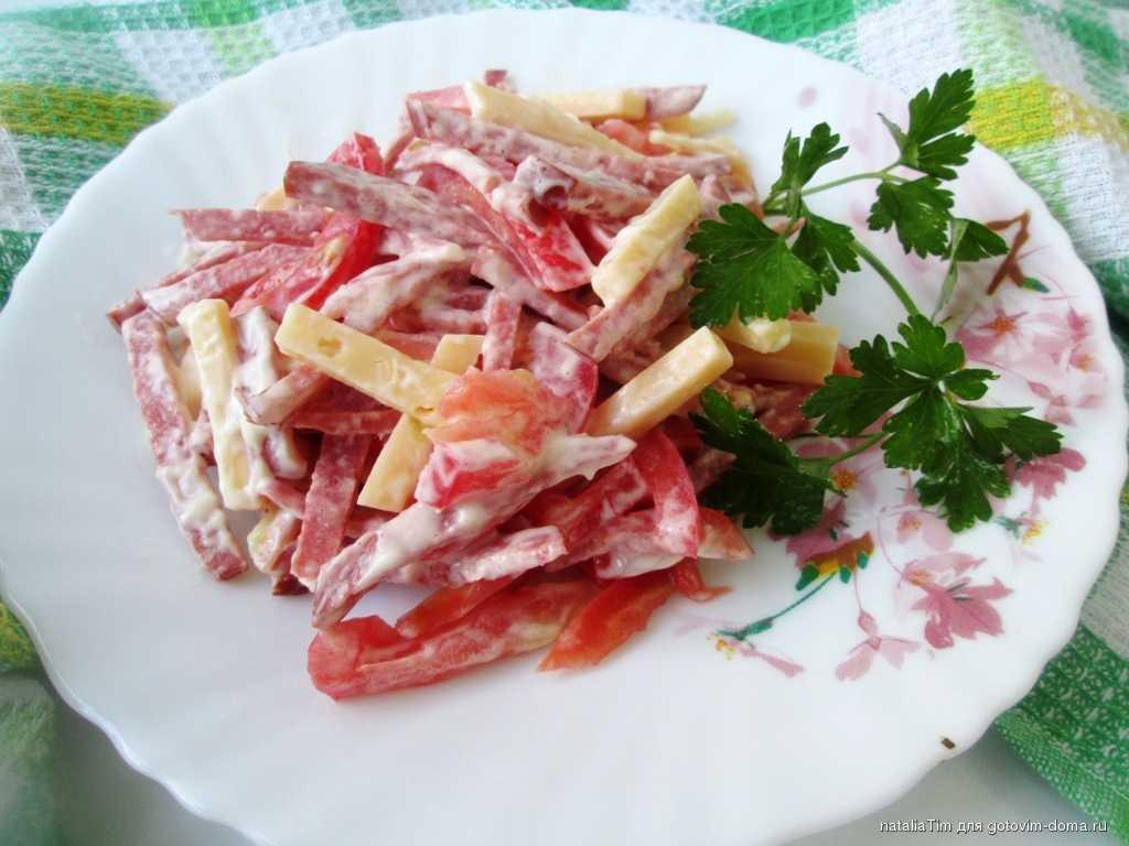 Рецепты салат с говядиной и помидорами