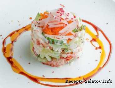 Салат с грибами и крабовыми палочками: топ 6 рецептов
