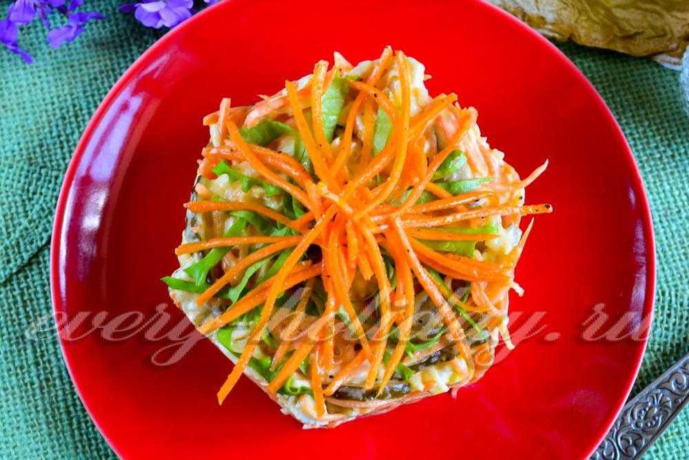 Салат лисья шубка: рецепты с грибами и селедкой, мясом и красной рыбой, «лисичка» с курицей