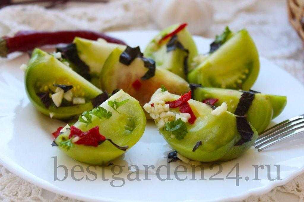 Рецепты квашеных зеленых помидоров быстрого приготовления на зиму в банках и кастрюле