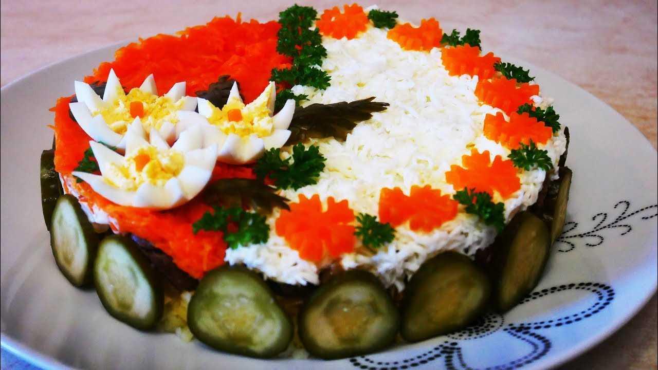 Новогодний салат часы – рецепт с фото