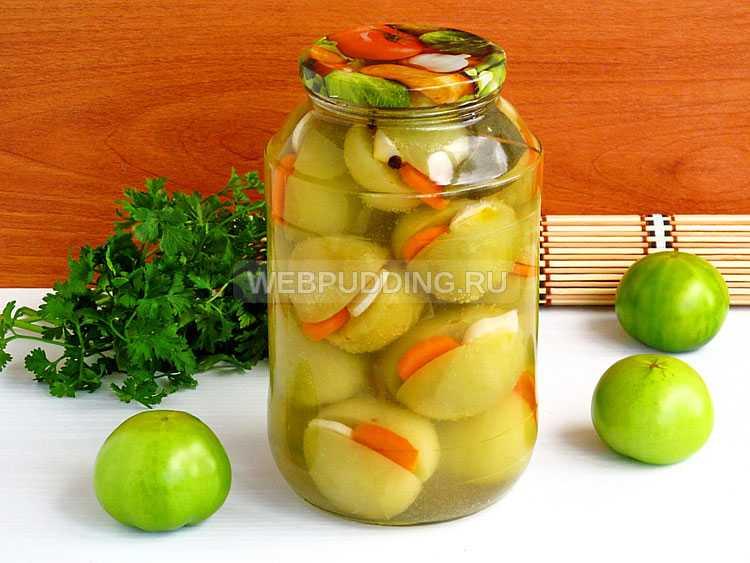 Зеленые помидоры фаршированные чесноком на зиму рецепт с фото пошагово - 1000.menu