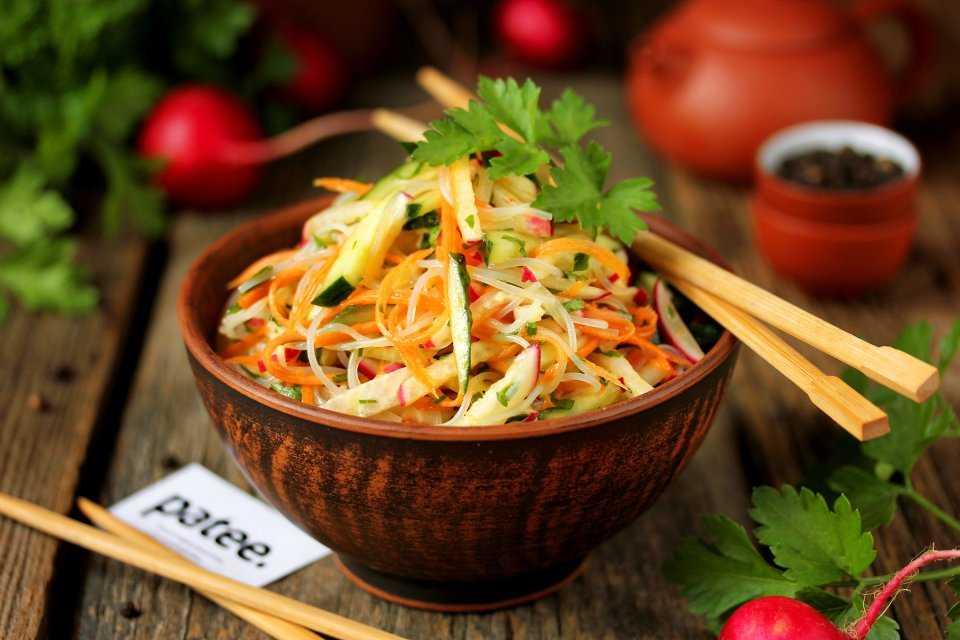 Салат с фунчозой с ветчиной рецепт - вкусные деликатесы стран мира