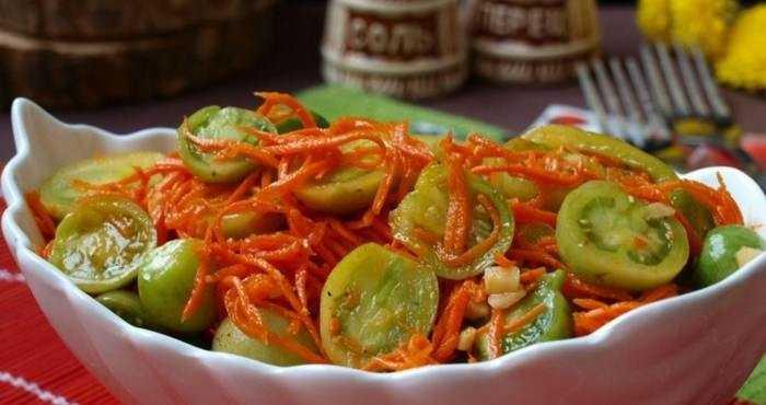 Зеленые помидоры по-корейски на зиму - самые вкусные рецепты, пальчики оближешь!