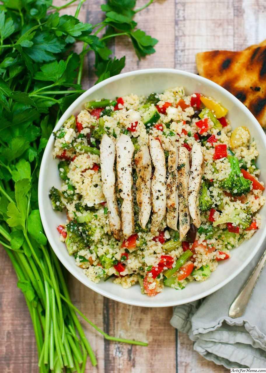 Салат с куриной грудкой и сыром | step-by-step recipes