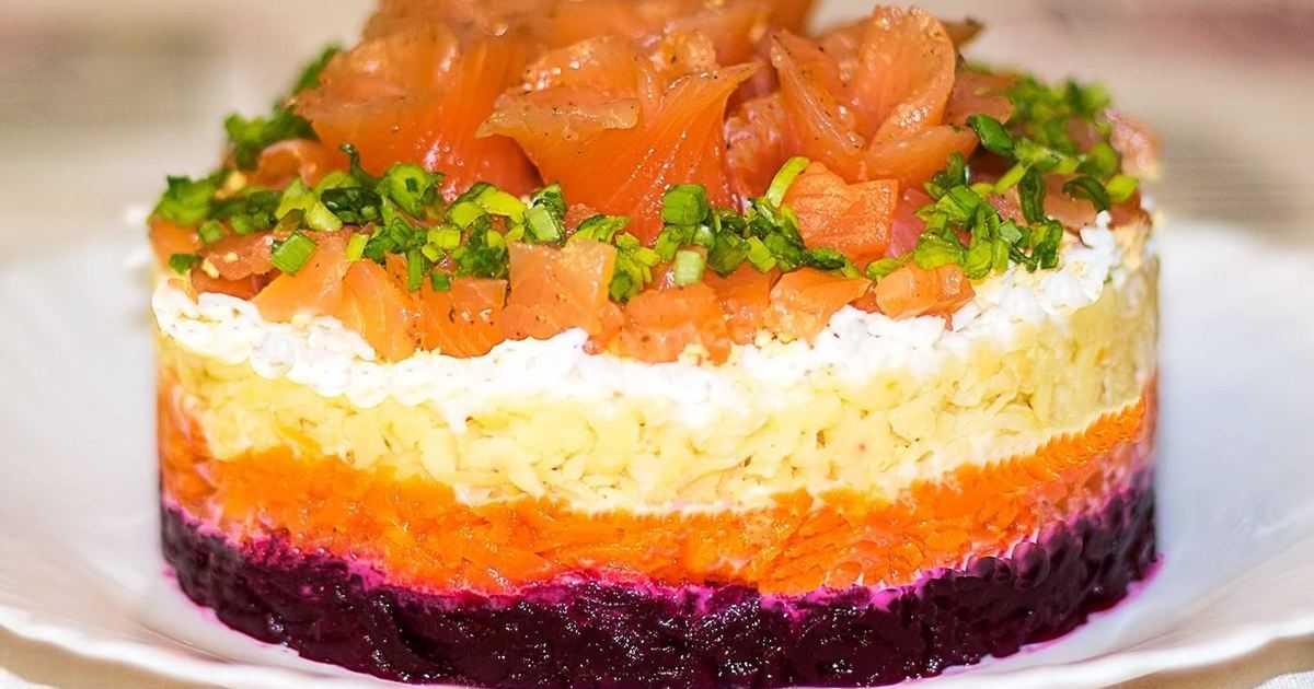 Салат семга под шубой