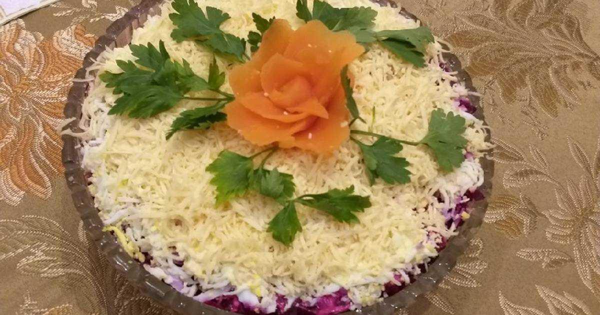 Пошаговый рецепт классического салата «любовница» с фото