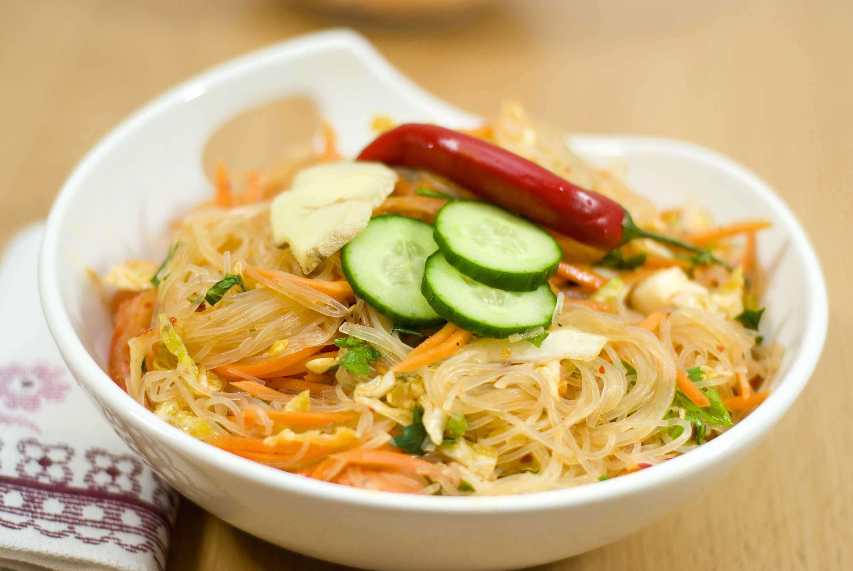 Как приготовить салат из крахмальной лапши и ветчины: поиск по ингредиентам, советы, отзывы, подсчет калорий, изменение порций, похожие рецепты