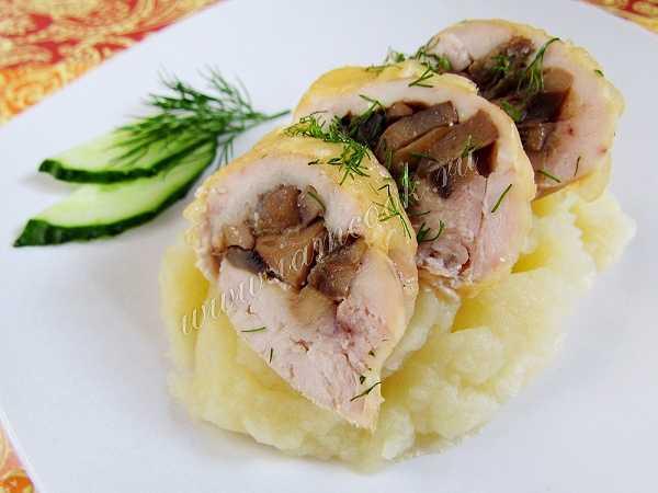 Мясной рулет с грибами - сочное и аппетитное блюдо из простых ингредиентов: рецепты с фото и видео
