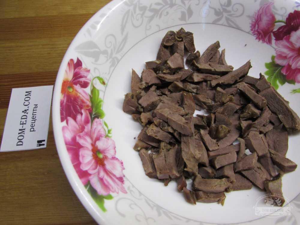 Как приготовить салат из свиного и говяжьего сердца по пошаговому рецепту с фото