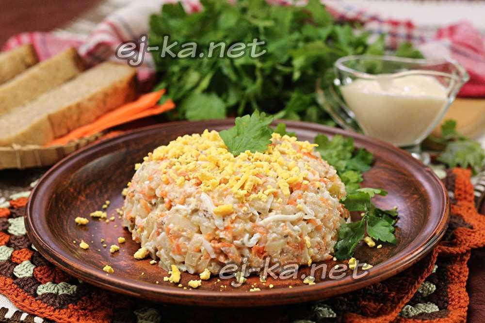 Салат с сайрой консервированной и рисом рецепт с фото пошагово и видео - 1000.menu