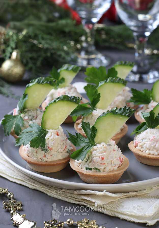 Тарталетки с красной икрой – вкусная закуска для праздничного и фуршетного стола: рецепты с фото и видео