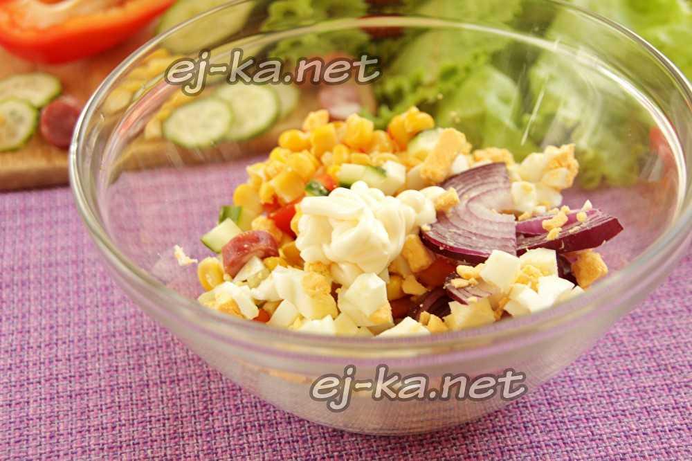 Салат охотничий с копченой колбасой: пошаговый рецепт с фото - бабушкины рецепты