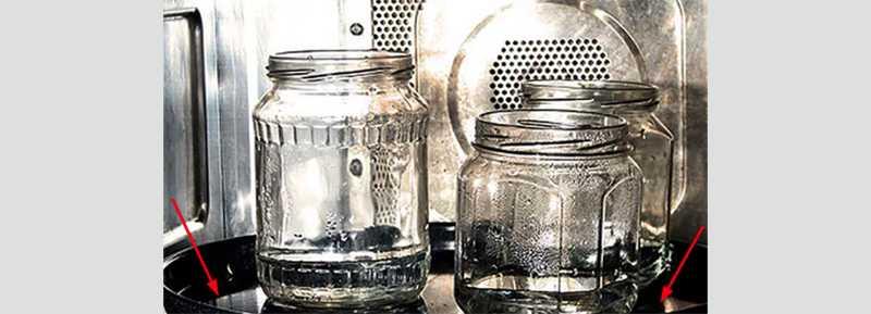 Стерилизация пустых и полных банок в микроволновке разными способами