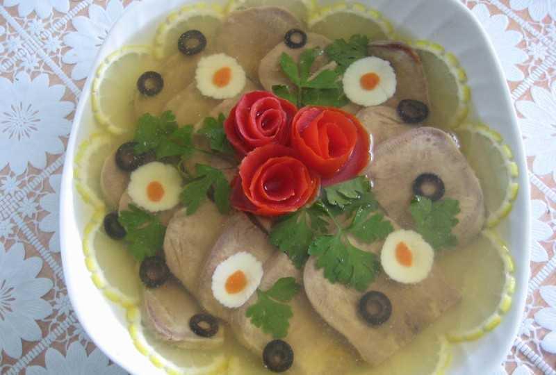 Рецепт приготовления заливного из свиного языка с желатином