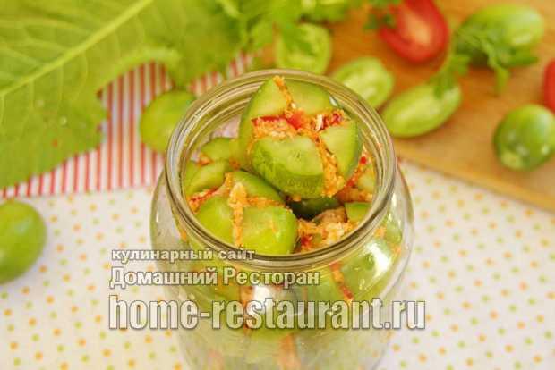 Помидоры зеленые маринованные: сладкие, с чесноком и другие варианты