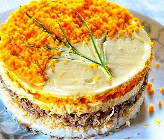 Давайте приготовим салат мимоза классическая с лососем
