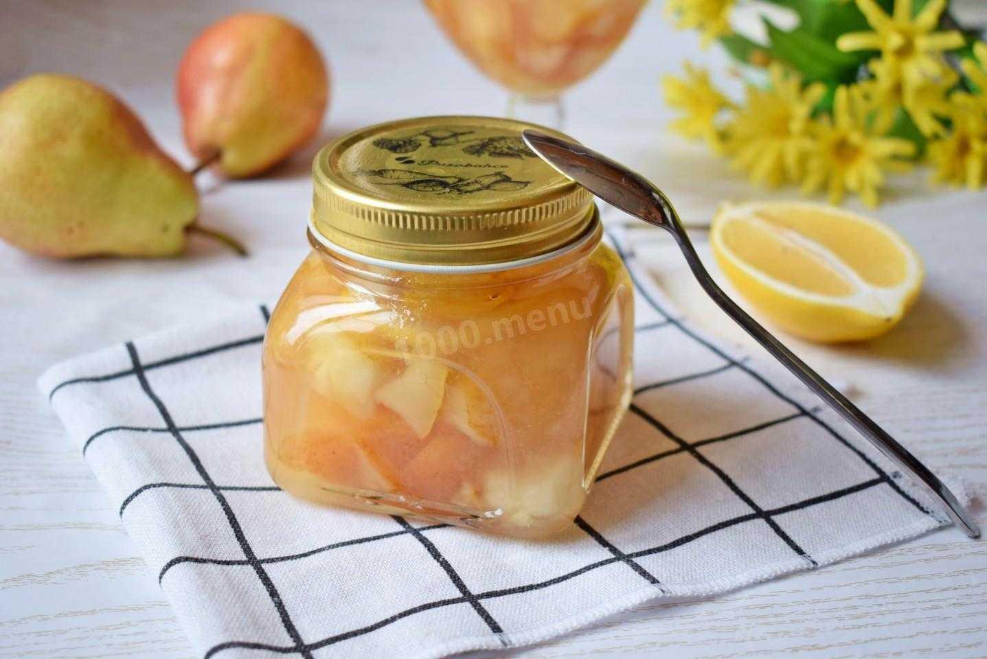Описание рецептов варенья из груш с лимоном на зиму: пятиминутка, классическое с многочисленными настаиваниями, в сиропе дольками, жареное на сковородке, в мультиварке.
