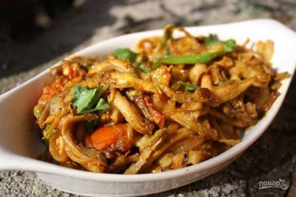 Жареная картошка с вешенками пошаговый рецепт