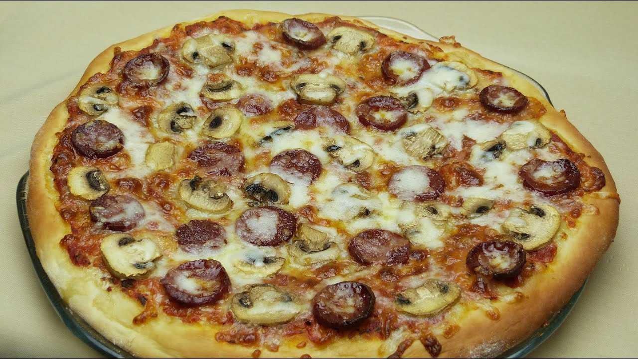 Пицца с грибами в домашних условиях: фото, пошаговые рецепты приготовления вкусных блюд