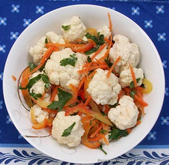 Рецепт: салаты из цветной капусты