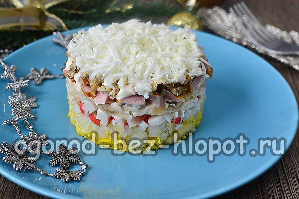 Салат «снежная королева» — рецепт с крабовыми палочками на новый год