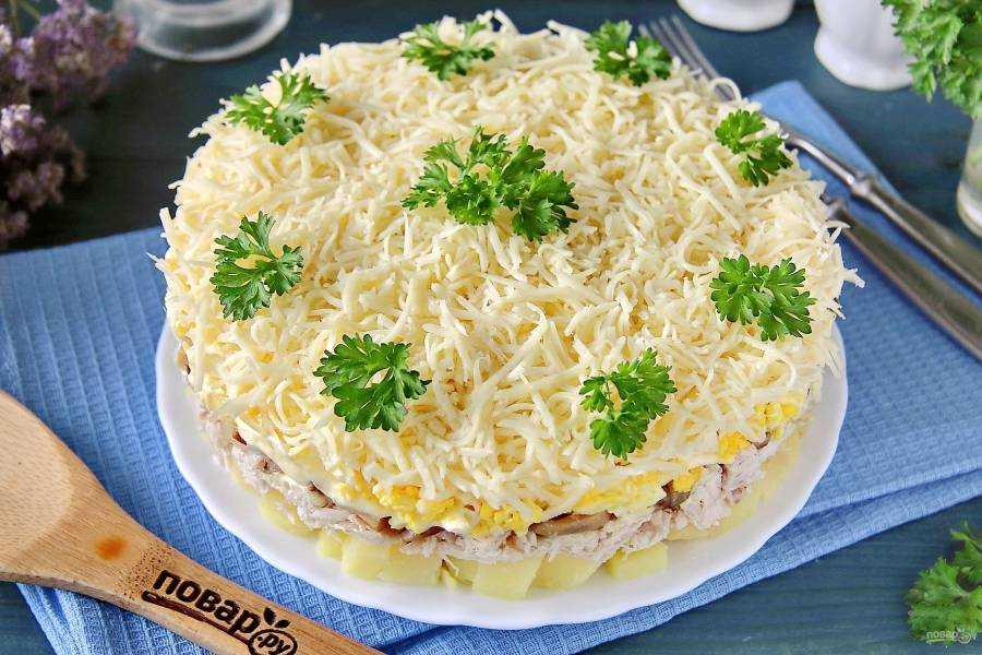 Салат с ананасами и курицей - 66 рецептов приготовления пошагово - 1000.menu