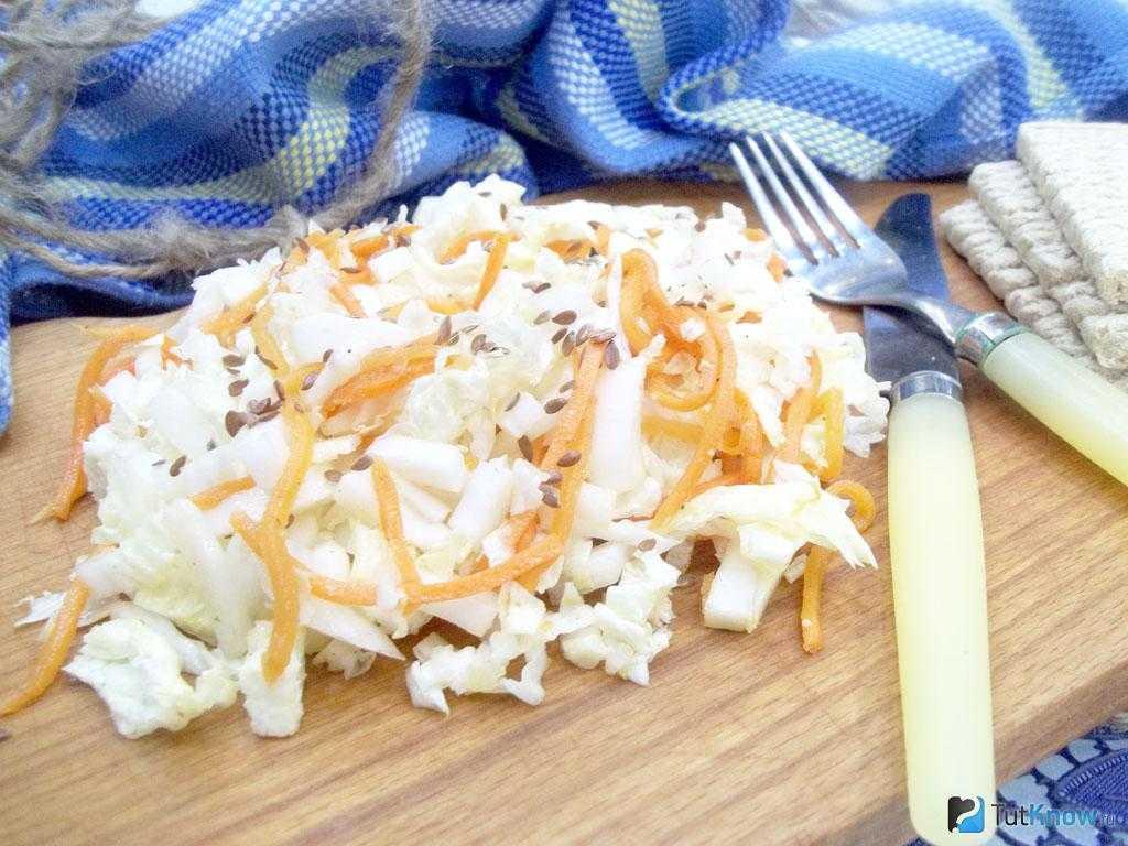 Салат с пекинской капустой и корейской морковкой: польза и вред, а также варианты приготовления блюда с добавлением куриной копченой грудки и других ингредиентов русский фермер