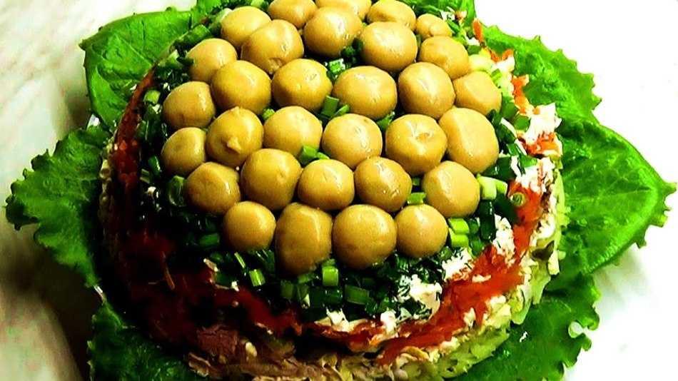 Рецепт приготовления салата лесная поляна с опятами